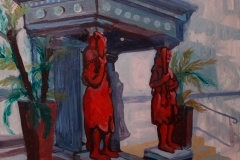 Artist Dan Llywelyn Hall - The Return of the Lady in Grey, £1400 12x16 Acrylic on Canvas at Paint Out Norwich 2015