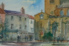 Artist Douglas Boyd Cross - St Gregory's, £250 12x16 Watercolour on Paper at Paint Out Norwich 2015