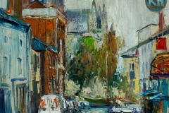 Artist Gennadiy Ivanov - Umbrella Day, Upper St Giles, £600 16x20 Oil on Canvas at Paint Out Norwich 2015