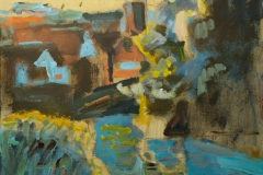 Artist Jack Godfrey - Shapes Contre Jour, £350 14x20 Acrylic & Ink on Canvas at Paint Out Norwich 2015