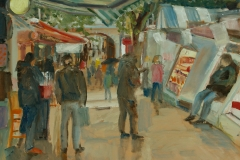 Artist Mary MacCarthy - Busy Market, £300 12x16 Oil on Board at Paint Out Norwich 2015