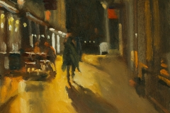 Artist Michael Richardson - Dove Street 12x10 Oil on Board at Paint Out Norwich 2015