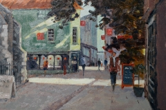 Artist Mo Teeuw - Towards Lobster Lane, £490 14x18 Oil on Canvas at Paint Out Norwich 2015