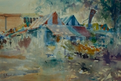 Artist Richard Bond - Norwich Market, £525 14x21 Watercolour on Paper at Paint Out Norwich 2015