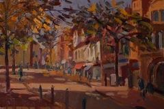 Artist Rod Major - Afternoon Light, St Giles, £275 12x10 Oil on Board at Paint Out Norwich 2015