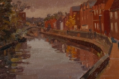 Artist Rod Major - Quayside, £275 12x10 Oil on Board at Paint Out Norwich 2015