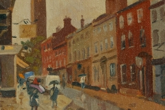 Artist Rod Major - Rainy Day, St Giles, £275 12x10 Oil on Board at Paint Out Norwich 2015