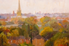 Artist Sally Balick - Overlook from Mousehold Heath, £350 9x12 Oil on Board at Paint Out Norwich 2015