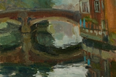 Artist Sally Balick - Rainy Day at Fye Bridge, £300 8x10 Oil on Board at Paint Out Norwich 2015
