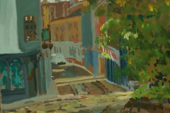 Artist Susan Mann - Cobbles and Colour, £400 7x9 Studio Prepared Oil on Board at Paint Out Norwich 2015