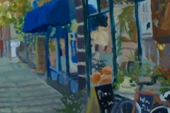 Artist Susan Mann - The Bicycle Way, £360 7x9 Studio Prepared Oil on Board at Paint Out Norwich 2015