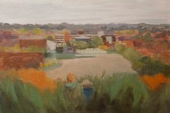Artist Susannah Penrose - The City, £240 14x10 Oil on Board at Paint Out Norwich 2015