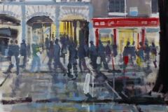 Artist Tom Cringle - Rush Hour, £275 16x12 Acrylic on Board at Paint Out Norwich 2015