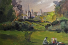 Artist Paul Gadenne, 'Norwich Cathedral', Mousehold Heath, Oil, 10x12in, £100. Photo © Katy Jon Went