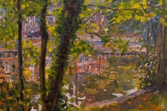 Artist Emily Faludy, 'Morning Illumination', Riverside, Oil, 10x12in, £540. Photo © Katy Jon Went