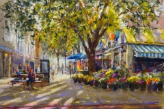 Artist John Patchett, 'The Red Beret', Norwich Market, Pastel, 50x32cm, £425 SOLD