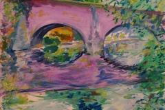 Artist John Behm, 'Sun-Hazed October Morn in Violet', Bishop Bridge, Oil, 12x12in, £320. Photo © Katy Jon Went