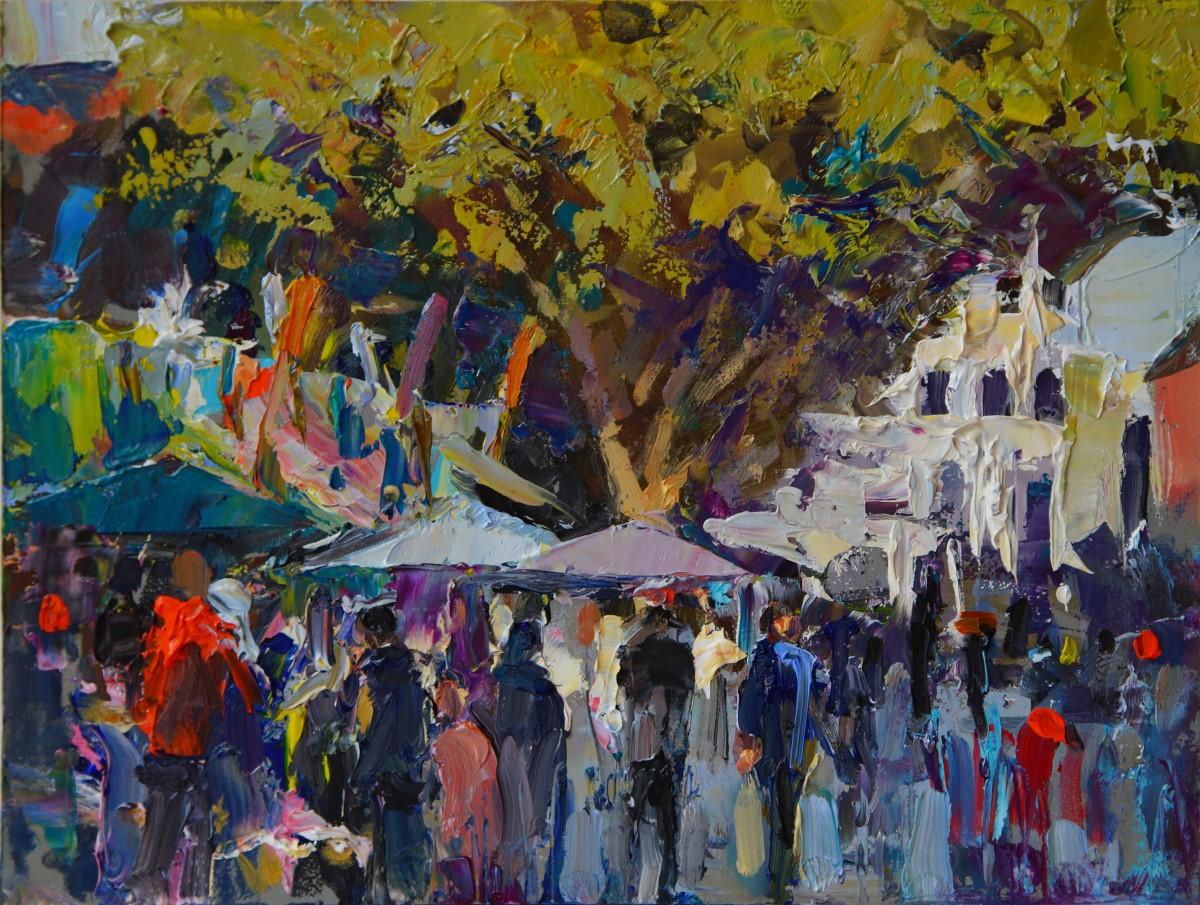 Tony Robinson, 'Market', Norwich Market, Oil, 30x22cm, <a href='http://www.paintout.org/artists/tony-robinson#buy' target='_blank'>FOR SALE</a>, £300