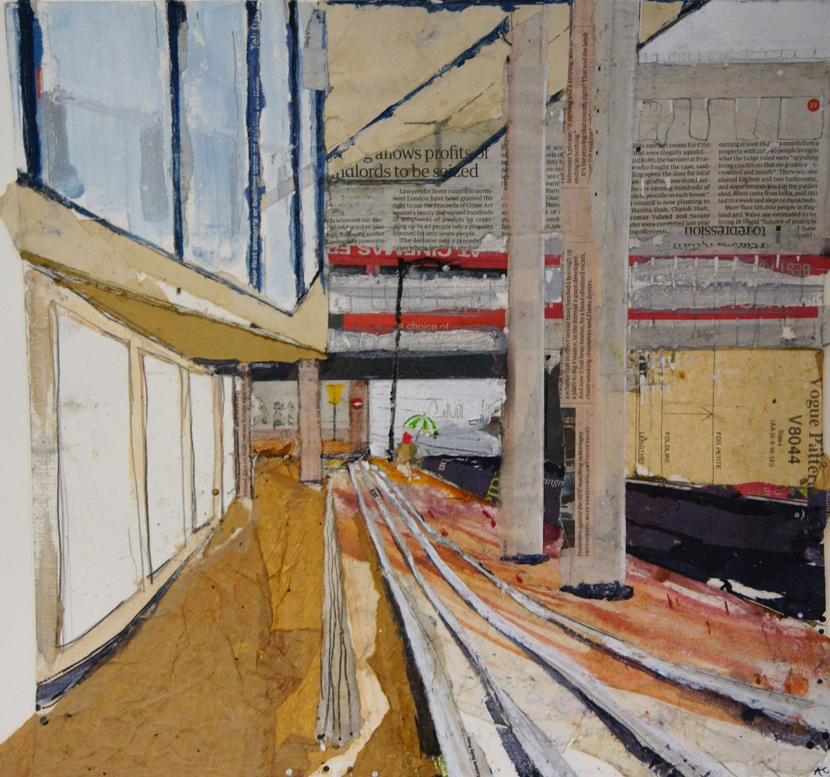 Alfie Carpenter, 'He Shall Not Be Moved', Anglia Square, Mixed Media, 40x40cm, SOLD