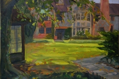 Artist Kate Gabriel, 'Autumn at Carrow Abbey', Carrow Abbey, Oil, 14x10in, £250. Paint Out Norwich 2018