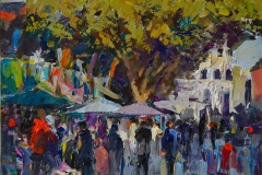 Tony Robinson, 'Market', Norwich Market, Oil, 30x22cm, <a href='http://www.paintout.org/artists/tony-robinson#buy' target='_blank'>FOR SALE</a>, £300