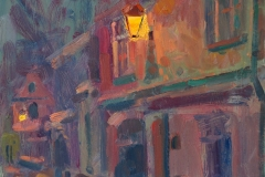 Andrew Farmer, 'The Meeting Place', Elm Hill, Oil, 50x40cm, <a href='http://www.paintout.org/artists/andrew-farmer#buy' target='_blank'>FOR SALE</a>, £695