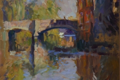 Rob Pointon, 'The Day After the Monet Lecture', St. Georges Bridge, Oil, 40x40cm, <a href='http://www.paintout.org/artists/rob-pointon#buy' target='_blank'>FOR SALE</a>, £650