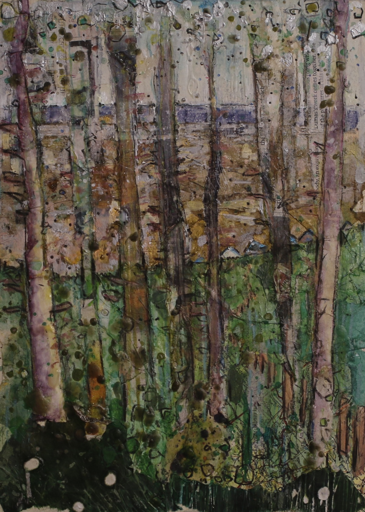 Alfie Carpenter Huts Throught the Trees Second Prize Mixed Medium 8x12 ©Mark Ivan Benfield