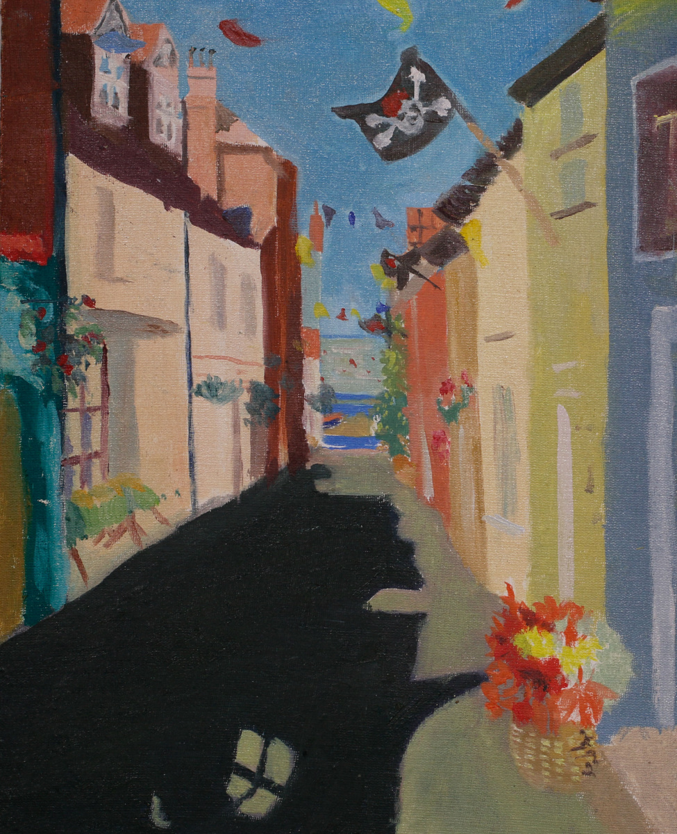 Susan Mann Jolly Roger Paint Out Wells 2015 Highly Commended 16 X 14 Studio Prepared Oil Paint ©Mark Ivan Benfield